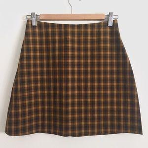Aritzia Wilfred Renee Check A-line Mini Skirt 4